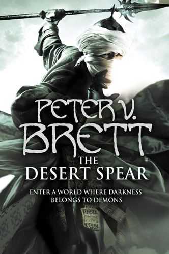 The cover art for Peter V. Brett's The Desert Spear.