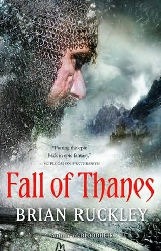 Cover art for Fall of Thanes by Brian Ruckley.