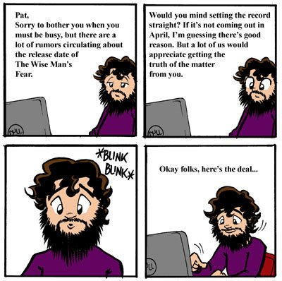 Comic about Patrick Rothfuss