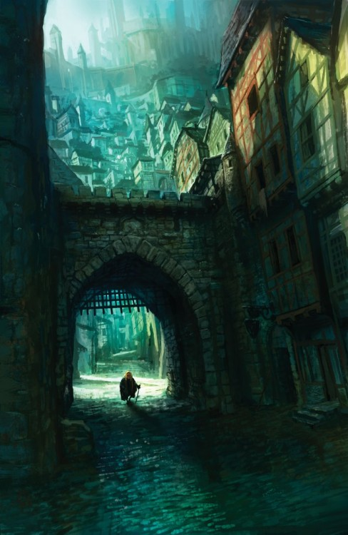 Tyrion in King's Landing by Marc Simonetti