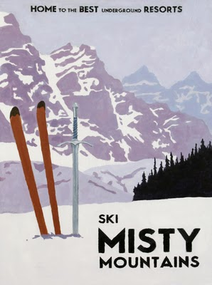 Ski Misty Mountains by Steve Thomas