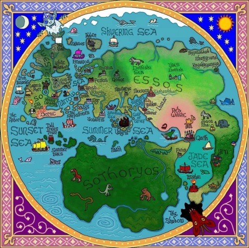 Wonderful Stylized Maps of GRRM's 'A Song of Ice and Fire' from J.E. Fullerton