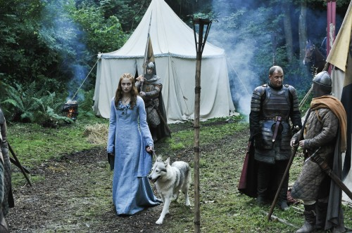 Sansa and her Dire Wolf from HBO's GAME OF THRONES