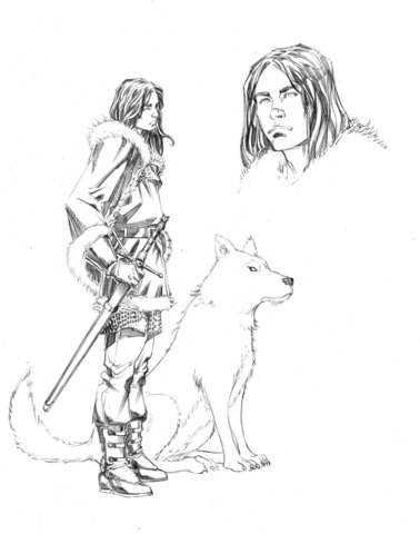 Jon Snow from the comic adaptation of GRRM's A SONG OF ICE AND FIRE