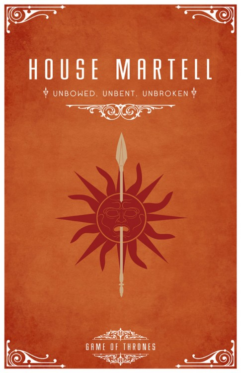 The Houses of Westeros (A SONG OF ICE AND FIRE)