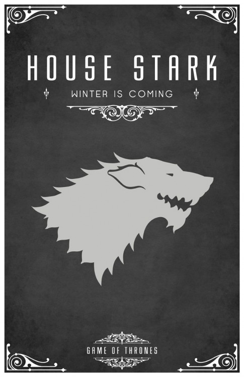 Beautiful Westeros family posters