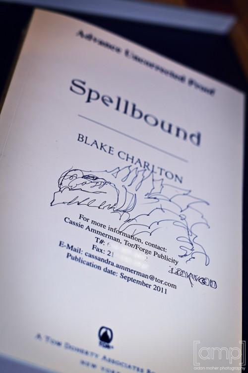 My custom cover art for SPELLBOUND by Blake Charlton