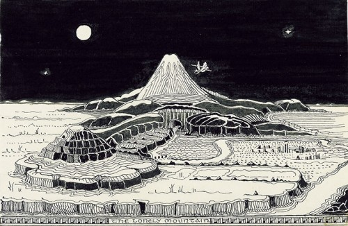Never Before Seen Tolkien Illustrations from THE HOBBIT