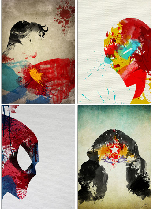 Paint Splatter Superheroes by Arian Noveir