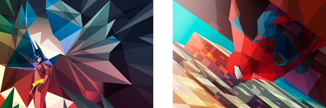 Geometric Superheroes, art by Liam Brazier