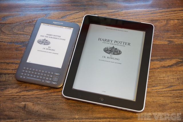 Harry Potter series in e-book form.