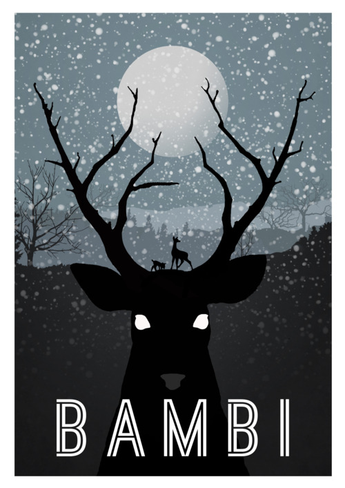 Bambi poster by Rowan Stock