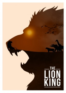 The Lion King poster by Rowan Stock