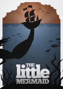 The Little Mermaid poster by Rowan Stock
