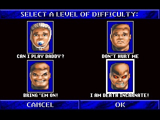 Wolfenstein 3D difficulty settings