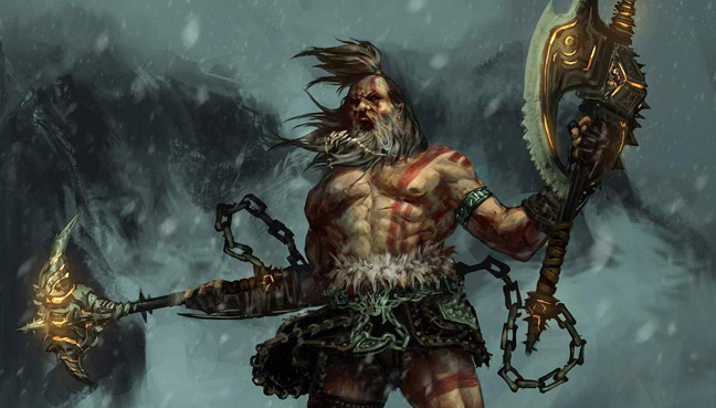 Barbarian, art by Seaver Liu