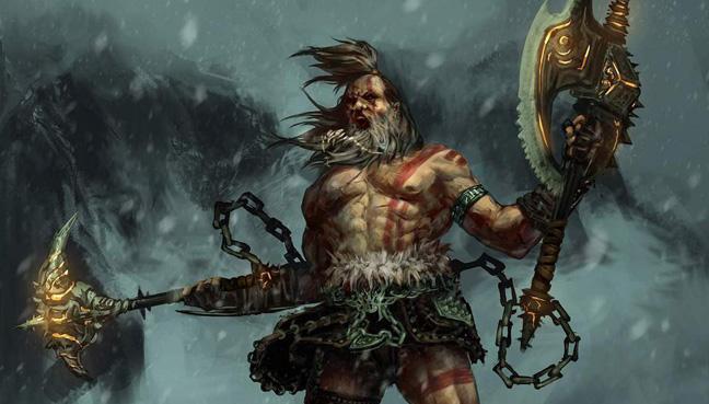 Barbarian, art by Seaver Liu