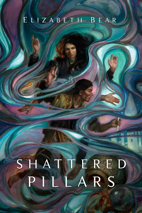 SHATTERED PILLARS by Elizabeth Bear, Art by Donato Giancola