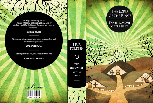 Fellowship of the Ring by JRR Tolkien, art by Jackfish90
