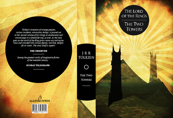 The Two Towers by JRR Tolkien, art by Jackfish90