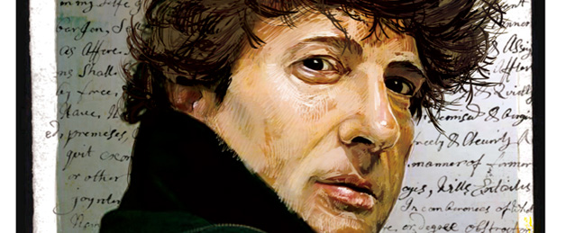 A Portrait of Neil Gaiman by Adrien Deggan
