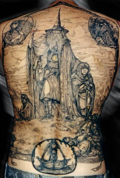 Lord of the Ring Back Tattoo