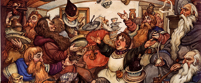 Unexpected Party, art by David T Wenzel