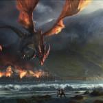 Smaug destroys Esgaroth
