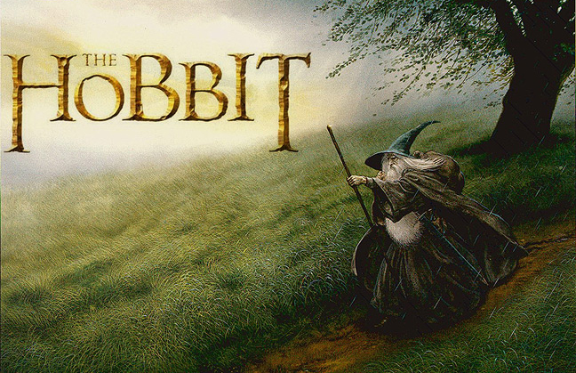 The Hobbit by J.R.R. Tolkien.