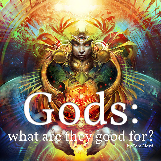 """Gods: What Are They Good For?"" by Tom Lloyd, art by Julie Dillon"