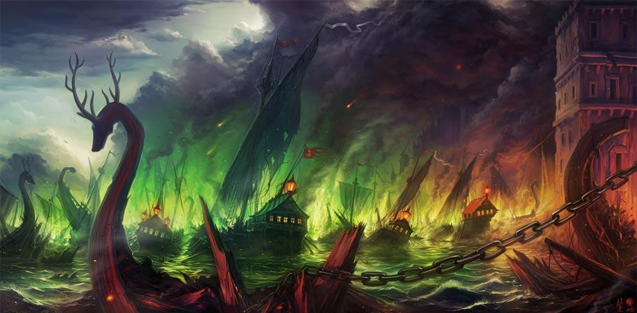 Battle of the Blackwater, art by haryarti