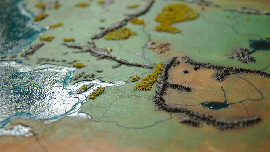 MiddleEarth Archives A Dribble of Ink – 3d Map of Middle Earth