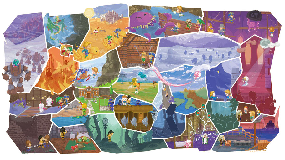 Final Fantasy 6 Collage